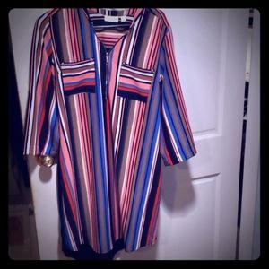 Stripped NY & Co Stretch Dress